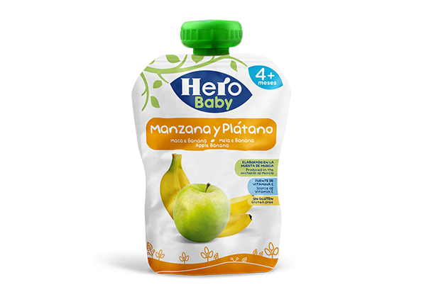 Apple Banana Pouch, Hero Baby, Baby Food